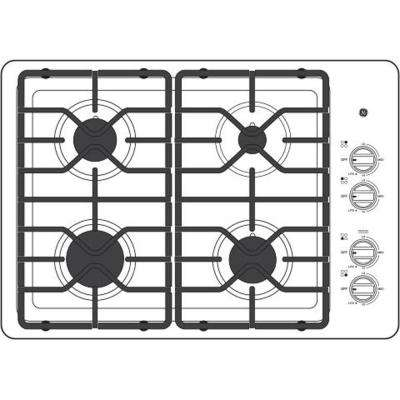 30 in. Gas Cooktop in Stainless Steel with 4 Burners including Power Burners