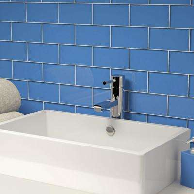 Blue 3 in. x 6 in. x 8mm Glass Subway Tile (5.5 sq. ft. / case)
