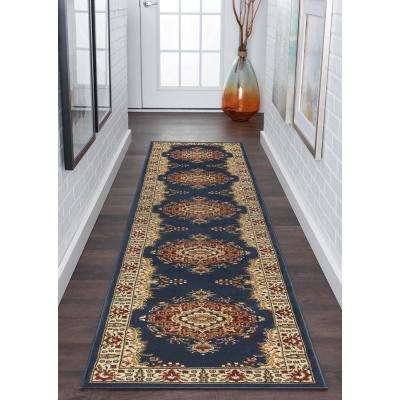 Sensation Black 2 ft. x 10 ft. Runner Rug