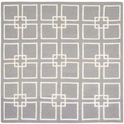 Cement Gray 5 ft. x 5 ft. Square Area Rug