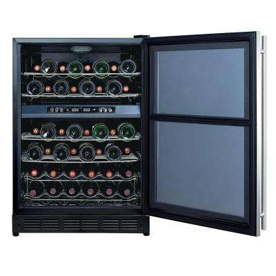 16-Bottle / 77 Can Dual-Zone Wine and Beverage Cooler