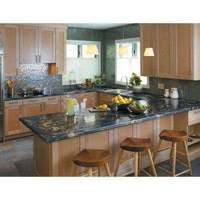 5 in. x 7 in. Laminate Countertop Sample in 180fx Blue Storm with Radiance Finish