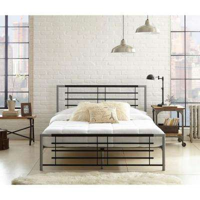 Rest Rite Kerri Metal Full-Size Platform Bed in Black and Silver