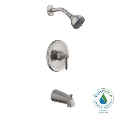 2500 Series Single-Handle 1-Spray Tub and Shower Faucet in Brushed Nickel