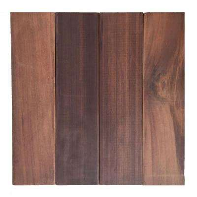 Floor-To-Go 0.92 ft. x 0.92 ft. Non-Slip Thermo-Treated Wood Floor/Deck Tile in Brown (10-Piece/Box)