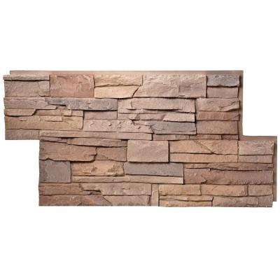 Stacked Stone Desert Sunrise 24 in. x 42 in. Faux Stone Siding Panel (4-Pack)