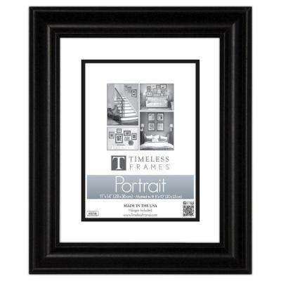 Lauren 1-Opening 11 in. x 14 in. Black Matted Picture Frame