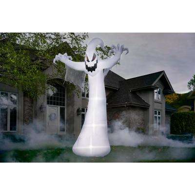 12 ft. Short Circuit Ghost Halloween Airblown Inflatable with Lightshow