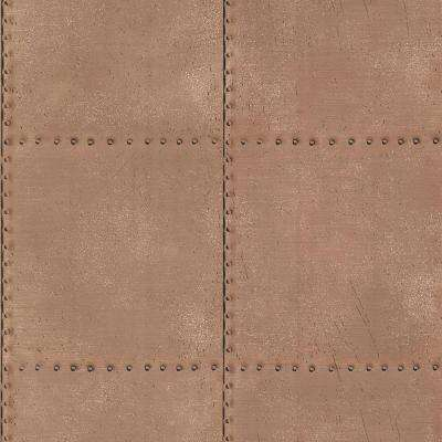 8 in. W x 10 in. H Metal Copper Texture Wallpaper Sample