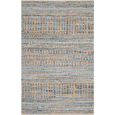 Cape Cod Natural/Blue 3 ft. x 5 ft. Area Rug