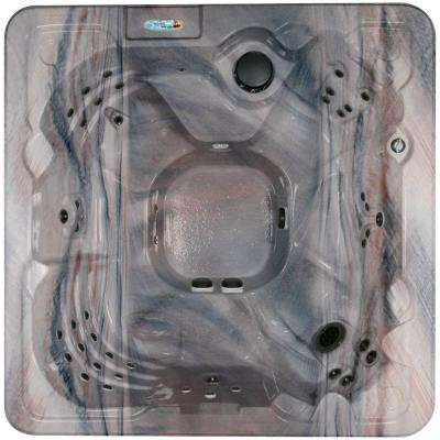 Corsica 8-Person 60-Jet Spa with Ozonator, LED Light, Polar Insulation, WOW Sound System, and Hard Cover
