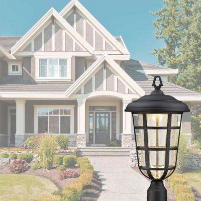 Triton Black Outdoor LED Post Lantern