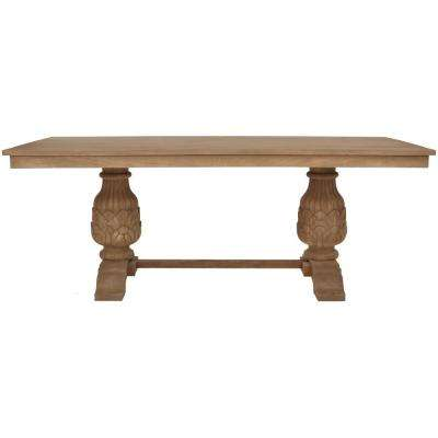 Kingsley Sandblasted Antique Natural Dining Table