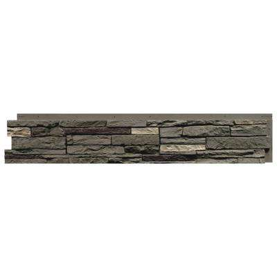 Slatestone Pewter 8.25 in. x 43 in. Faux Stone Siding Panel (8-Pack)