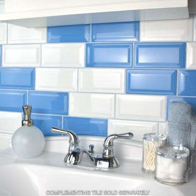 Park Slope Beveled Subway Glossy White 3 in. x 6 in. Ceramic Wall Tile (36 cases / 690.48 sq. ft. / pallet)