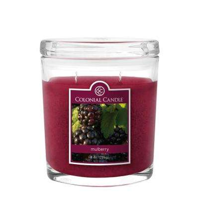 8 oz. Mulberry Oval Jar Candle