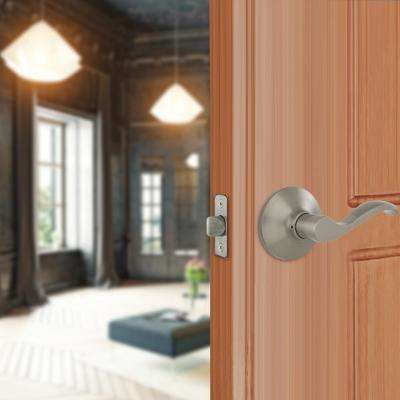 Naples Satin Nickel Hall and Closet Passage Door Lever