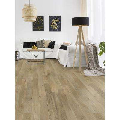 Smooth White Oak Natural Engineered Hardwood Flooring 1/2 in. Thick x 5 in. Wide x Varying Length (36.04 sq. ft.)