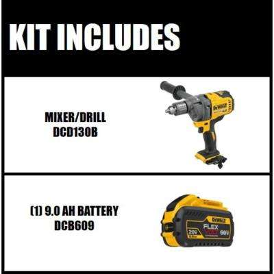 FLEXVOLT 60-Volt MAX Brushless Cordless 1/2 in. Mixer/Drill with E-Clutch (Tool-Only) with Free FLEXVOLT Li-Ion Battery