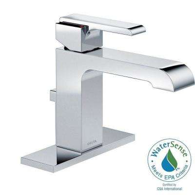 Ara Single Hole Single-Handle Bathroom Faucet in Chrome with Metal Pop-Up
