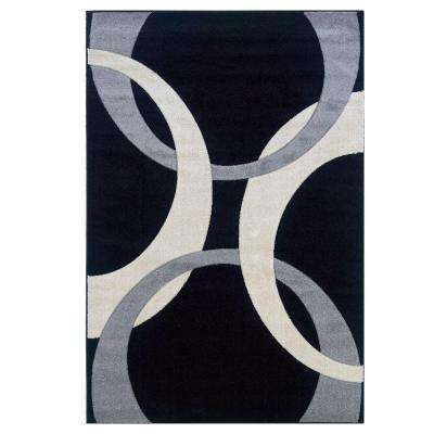 Corfu Collection Black and Grey 8 ft. x 10 ft. 3 in. Indoor Area Rug