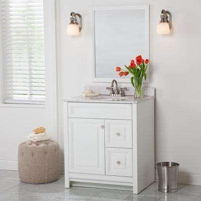 Brinkhill 30 in. W x 21.65 in. D x 34.25 in. H Bath Vanity Cabinet Only in White