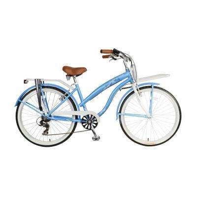 F1 Land Cruiser Bicycle, 26 in. Wheels, 17 in. Frame, Women's Bike in Blue