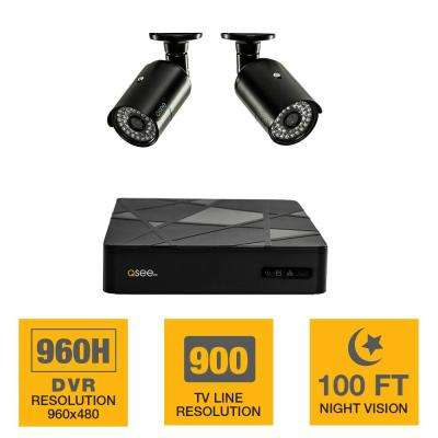 4-Channel 960H 500GB Surveillance System with (2) 900TVL Camera, 100 ft. Night Vision