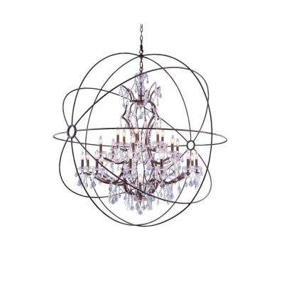 Geneva 25-Light Rustic Intent Chandelier with Clear Crystal