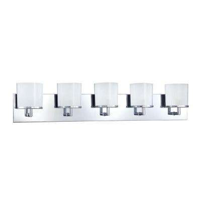 Cassiopeia 5-Light Ceiling Chrome Incandescent Vanity