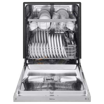 24 in Front Control Built-In Tall Tub Dishwasher in PrintProof Stainless Steel w/ QuadWash & Stainless Steel Tub, 48 dBA