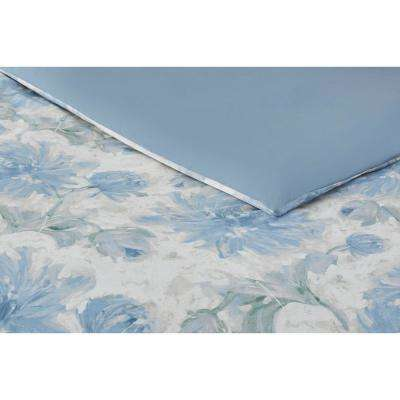 Corinne 3-Piece Washed Denim Watercolor Comforter Set
