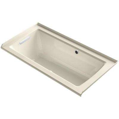 Archer 5 ft. Walk-In Whirlpool and Air Bath Tub in Almond