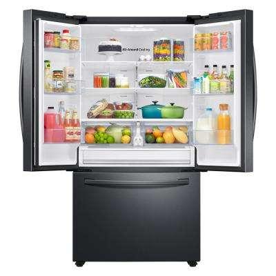 28.2 cu. ft. French Door Refrigerator in Black Stainless Steel