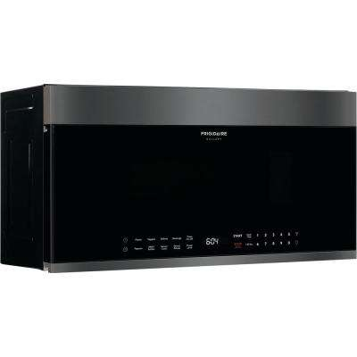 30 in. 1.9 cu. ft. Over the Range Microwave in Black Stainless Steel
