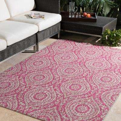 Cranleigh Bright Pink 2 ft. x 3 ft. Indoor/Outdoor Area Rug
