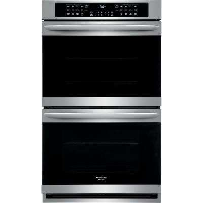 30 in. Double Electric Wall Oven with True Convection Self-Cleaning in Stainless Steel