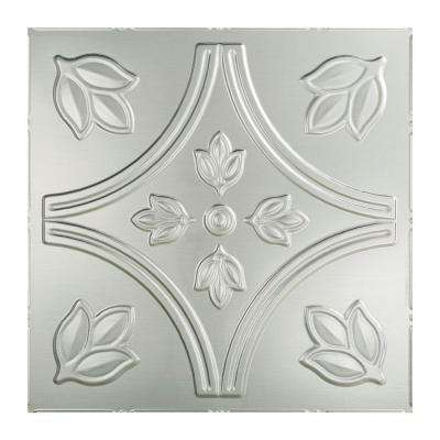 Traditional 5 - 2 ft. x 2 ft. Lay-in Ceiling Tile in Brushed Aluminum