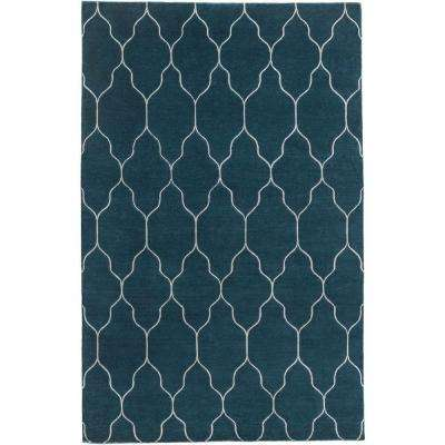 Asino Teal 8 ft. x 11 ft. Indoor Area Rug