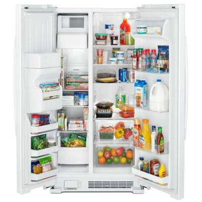 21.4 cu. ft. Side by Side Refrigerator in White