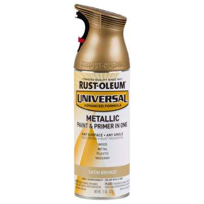 11 oz. All Surface Satin Bronze Metallic Spray Paint and Primer in One (Case of 6)