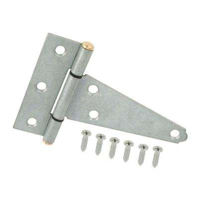 4 in. Galvanized Heavy Duty Tee Hinges (2-Pack)