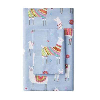 Lovely Llamas 200-Thread Count Cotton Percale Pillowcase (Set of 2)