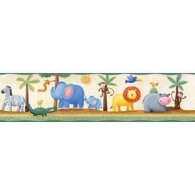 Yards Jungle Adventure Peel and Stick Wallpaper Border