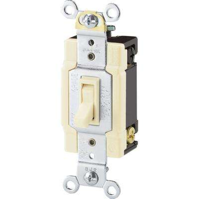 Standard Grade 15 Amp 4-Way Toggle Switch with Side and Push Wiring, Light Almond
