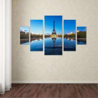 "40 in. x 58 in. ""Blue Hour"" by Mathieu Rivrin Printed Canvas Wall Art"