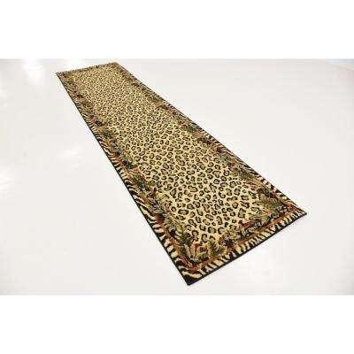 Wildlife Jungle Ivory 2' 7 x 10' 0 Runner Rug