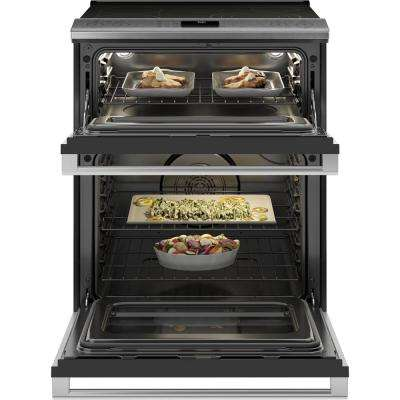 30 in. 6.6 cu. ft. Smart Slide-In Electric Range with Self-Cleaning Convection Oven in Platinum