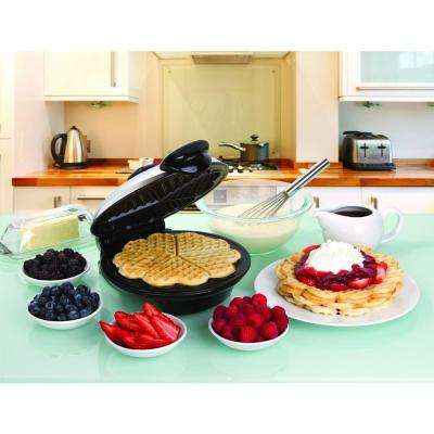 Heart Design Eco Friendly 8 in. Waffle Maker