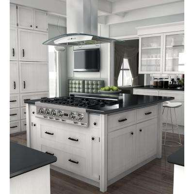 36 in. 760 CFM Island Mount Convertible Range Hood in Stainless Steel